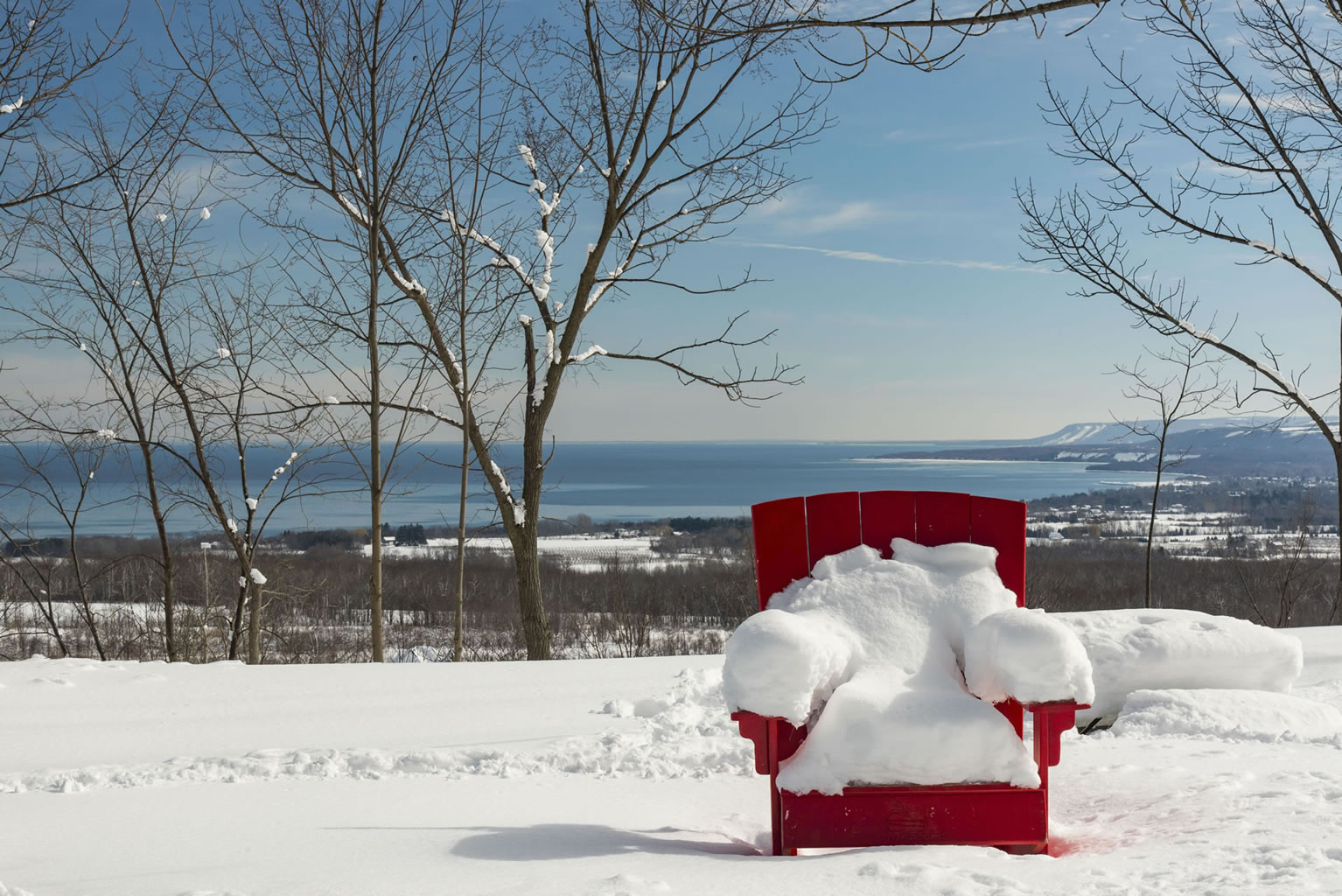 Irish Mountain Lookout in the winter