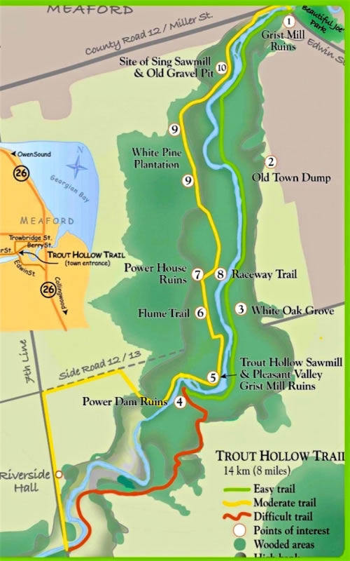Trout Hollow Trail Map in Meaford