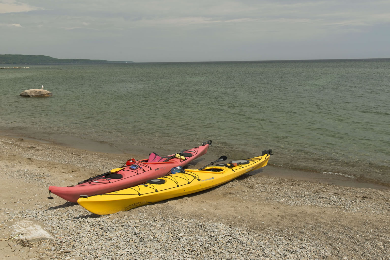 Kayaking in the Meaford Harbour by Fred Raper Park