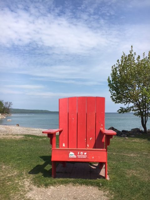 fred raper park meaford big red chair tour