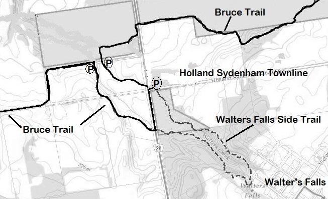 Walters Falls Map