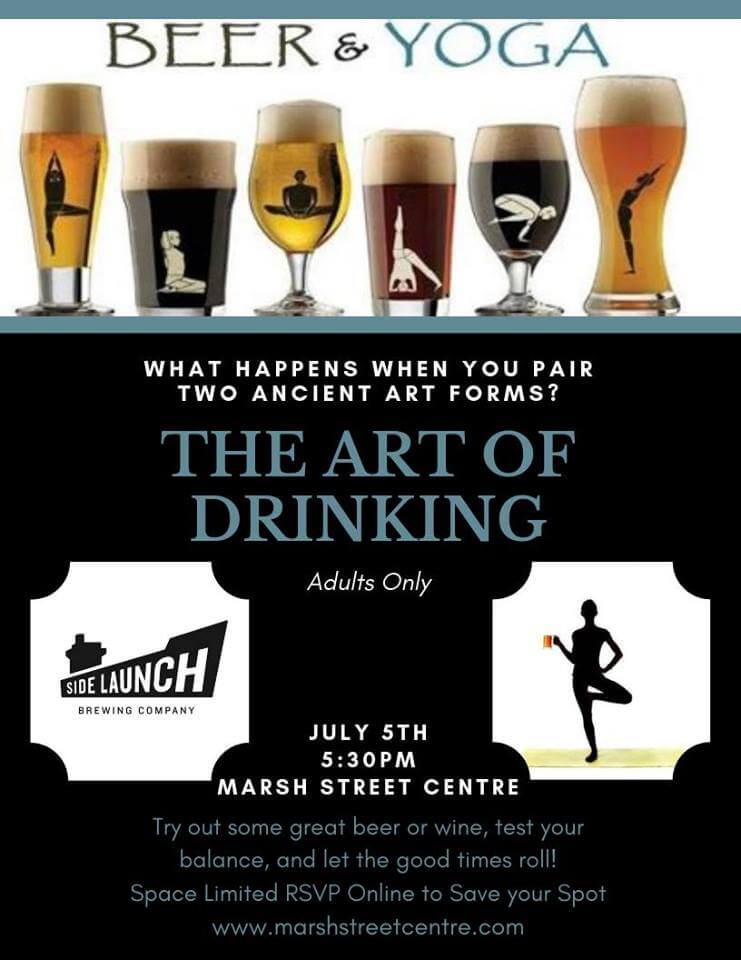 beer and yoga marsh street centre
