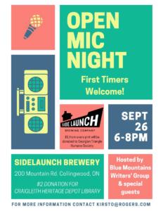 Open Mic Night - Side Launch