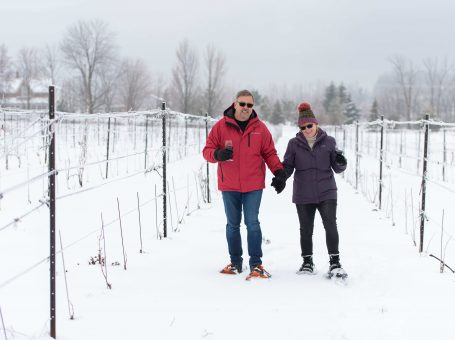 Snowshoe at Georgian Hills Vineyard