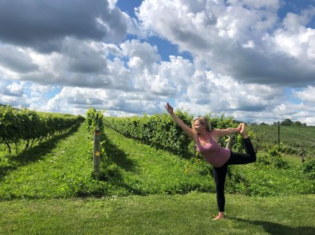 Yoga IN THE VINEYARD
